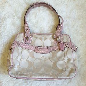 rare Coach Penelope pink python bag